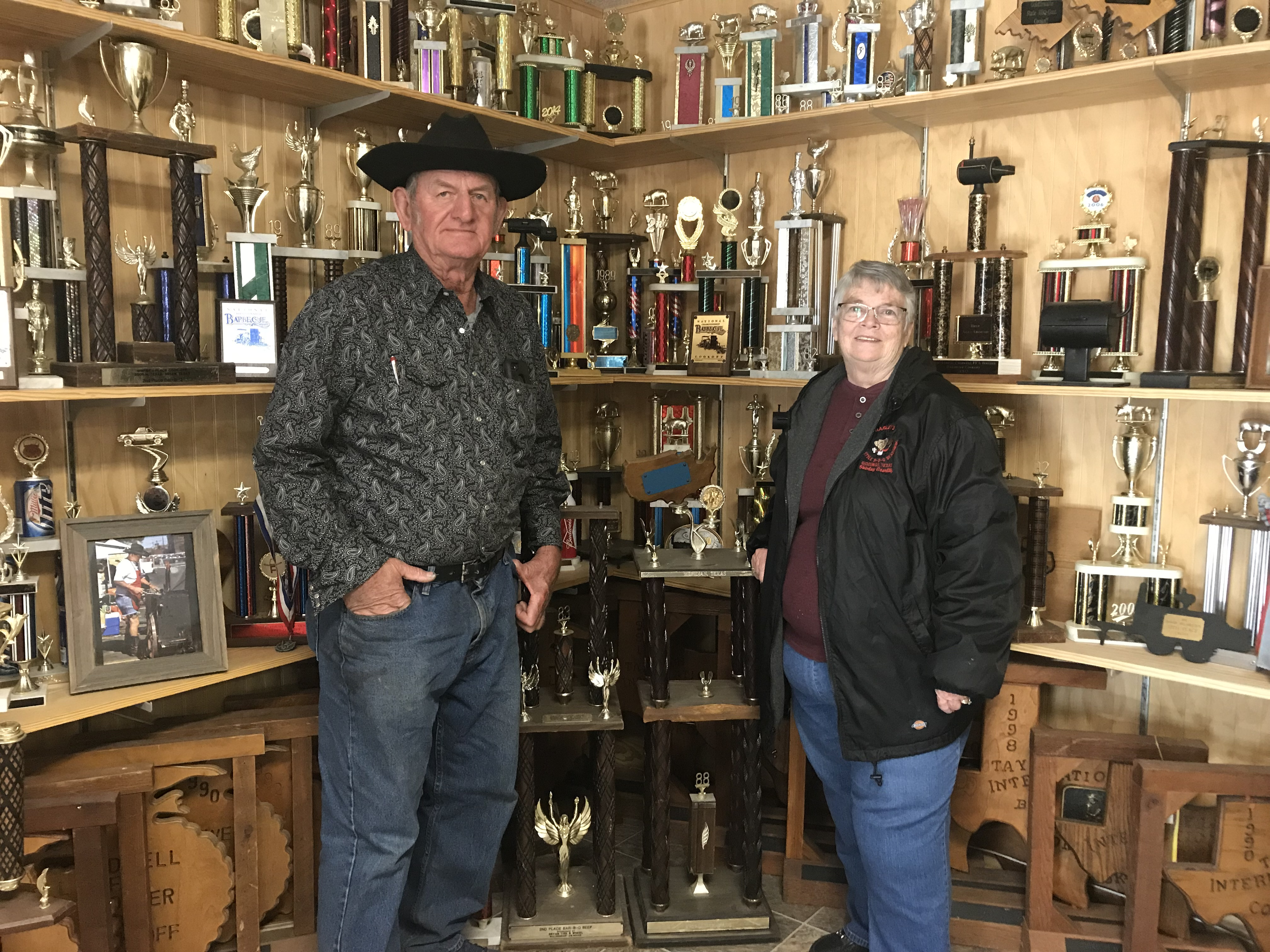 Harley & Shirley with some of their trophies