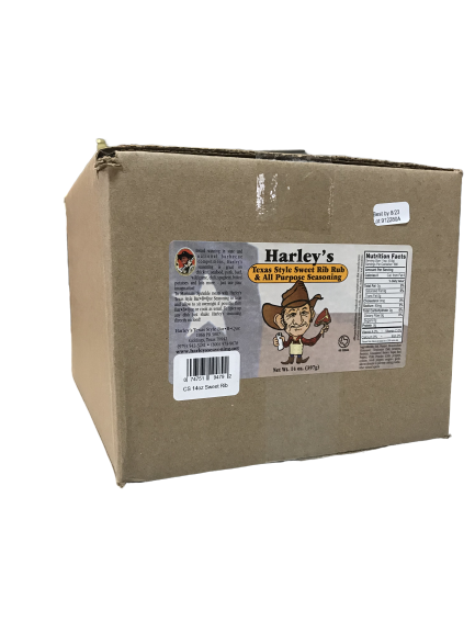Harley's SWEET Rib Rub (Size: Case of 14 oz bottles (12 bottles))