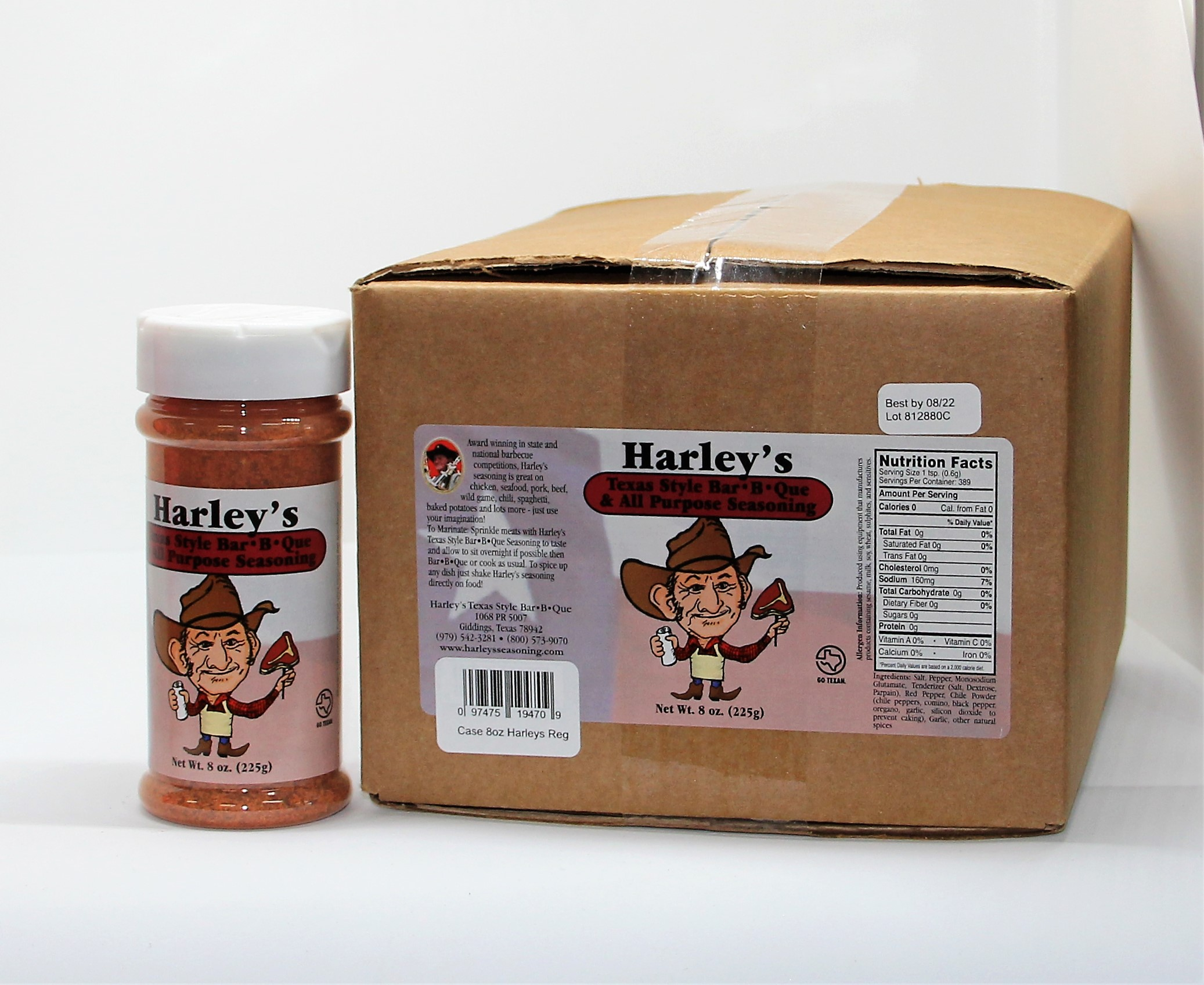 Harley's Original Seasoning (Size: Case of 8 oz bottles (12 bottles))