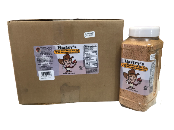 Harley's SWEET Rib Rub (Size: Case of 32 oz Bottles (12 bottles))